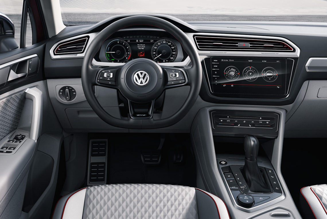 vw tiguan gte active concept der vielseitige suv allrounder. Black Bedroom Furniture Sets. Home Design Ideas