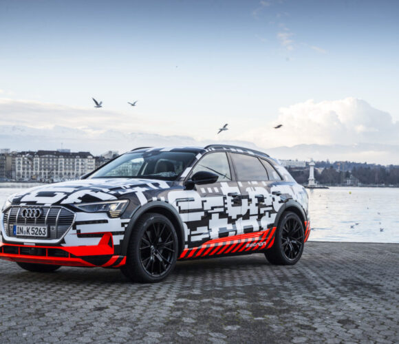 The Audi e-tron prototype in Genf